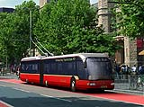 Artist's impression of a modern Trolleybus in London