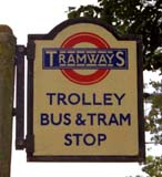 Trolleybus and Tram Stop sign