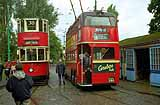 London Tram 1858 and Trolleybus 260