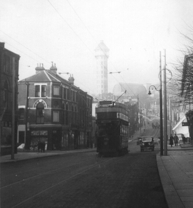 Tram at bottom of Anerley Hill
