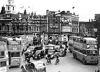 Hammersmith Broadway showing trolleybuses