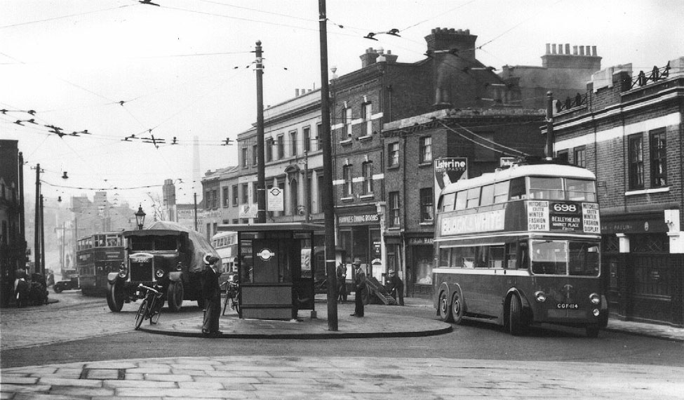 Trams and Trolleybuses in Market Hill, Woolwich