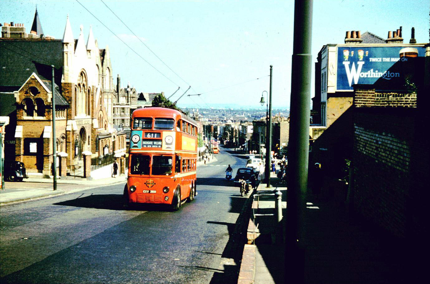 david bradley online - london trolleybus on route 611 climbing
