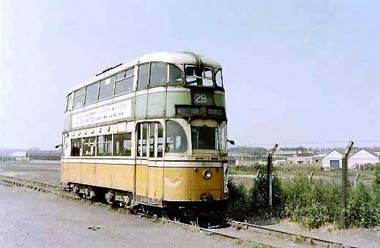 Liverpool Tram #869 at Middleton Park