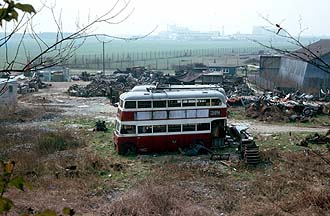 Portsmouth Trolleybuses at Southern Counties Demolition, at Hilsea